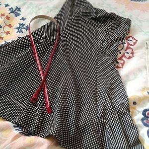 50's Style Polka Dot Dress Size Medium Strapless